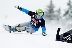 Tim Mastnak of Slovenia during Qualification Run of FIS Snowboard World Cup Rogla 2013 in Parallel Giant slalom, on February 8, 2013 in Rogla, Slovenia. (Photo By Vid Ponikvar / Sportida.com)