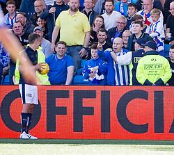 Kill fan at Falkirk's Vaulks. Kilmarnock 4 v 0 Falkirk, second leg of the Scottish Premiership play-off final.