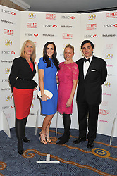 Left to right, CHARLOTTE STOCKTING, VICTORIA PENDLETON, ROSIE NIXON and EDUARDO SANCHEZ-PEREZ at the 20th CEW (UK) Achiever Awards 2012 - celebrating two decades of women, passion, beauty, held at the Hilton, park Lane, London on 16th October 2012.