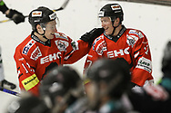 08.03.2011, Dielsdorf, Eishockey 2. Liga, Illnau - Chur, Thomas Hauser und Enzo Corvi jubeln  (Thomas Oswald/hockeypics)