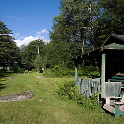 A cabin at the Katahdin Lake Wilderness Camps in Maine's Baxter State Park.