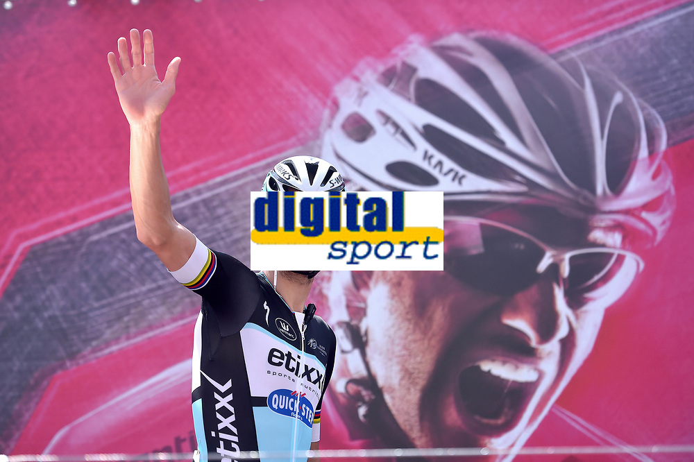 Tom BOONEN (Bel)  during the Giro d'Italia 2015, Stage 2, Albenga - Genova (173 km), on May 10, 2015. Photo Tim de Waele / DPPI