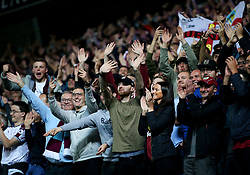 Burnley fans celebrate at full time - Mandatory by-line: Matt McNulty/JMP - 23/08/2017 - FOOTBALL - Ewood Park - Blackburn, England - Blackburn Rovers v Burnley - Carabao Cup - Second Round