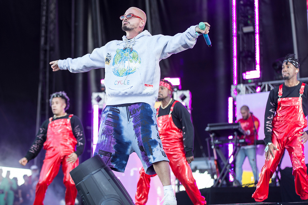 J Balvin performs at the Something In The Water Festival in Virginia Beach, VA on April 27, 2019.