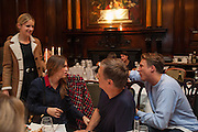 EUGENIE NIARCHOS; DASHA ZHUKOVA; ANDREAS GURSKY; CYPRIEN GAILLARD, Opening of Morris Lewis: Cyprien Gaillard. From Wings to Fins, Sprüth Magers London Grafton St. London. Afterwards dinner at Simpson's-in-the-Strand hosted by Monika Spruth and Philomene Magers.