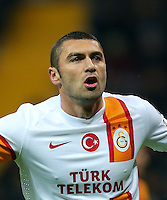 Turkey Superleague match between Kayserispor and Galatasaray at Kadir Has Stadium in Kayseri on 17.03.13<br /> Match Scored: Kayserispor 1 - Galatasaray 3<br /> Pictured: Burak Yilmaz of Galatasaray.