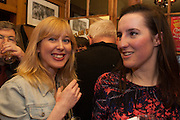ANNA BADDELEY; FLEUR MACDONALD;, The Omnivore hosts the third Hatchet  Job of the Year Award. Sponsored by the Fish Society.  The Coach and Horses. Greek st. Soho. London. 11 February 2014.