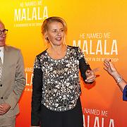 NLD/Hilversum/20151101 - Prinses Mabel aanwezig bij de Premiere He Named Me Malala, Prinses Mabel en Neelie Kroes