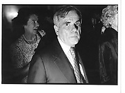 Dominick Dunne at a book launch party. London 1987.© Copyright Photograph by Dafydd Jones 66 Stockwell Park Rd. London SW9 0DA Tel 020 7733 0108 www.dafjones.com