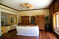 The Kahala Resort and Hotel, located in Honolulu on the souths side of Diamond Head, offers luxurious accommodations and is the only hotel in Oahu with a dolphin program.  The Kahala Spa Napa Kua treatment room.
