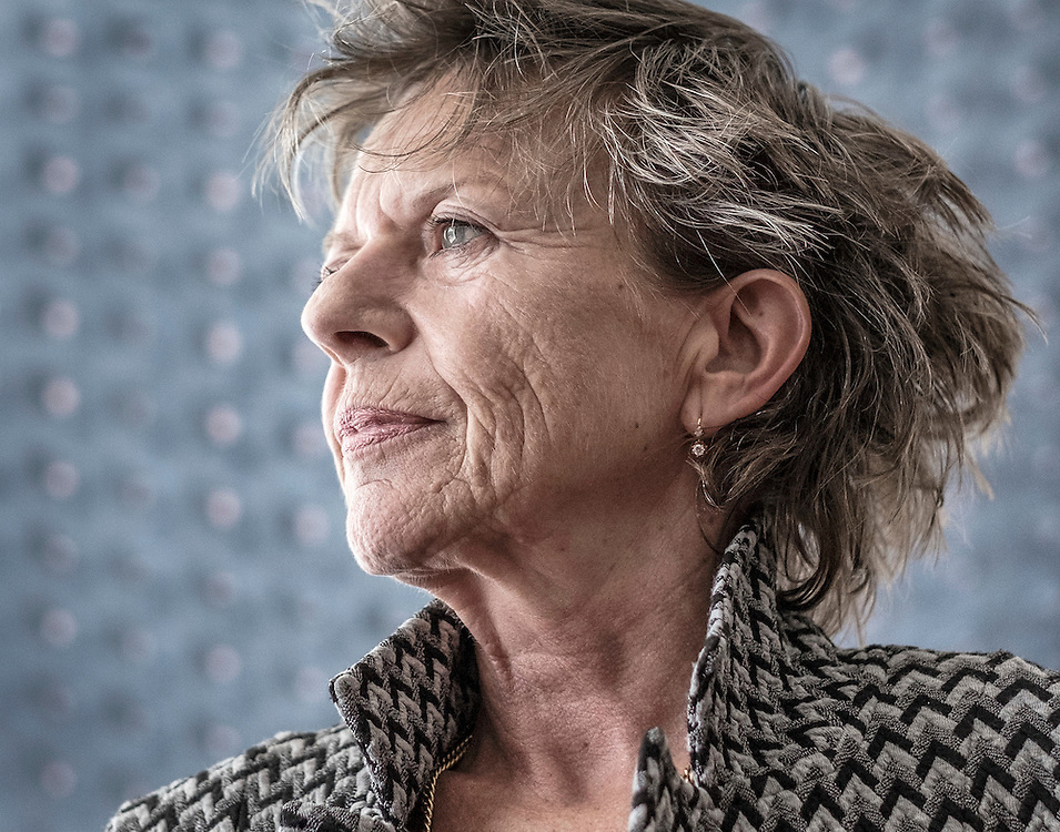 Netherlands. Amsterdam, 26-08-2015. Photo: Patrick Post.  Portret van Connie Palmen, schrijver.