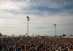April 27 2007. New Orleans, Louisiana. <br /> The New Orleans Jazz and Heritage Festival. Crowd scenes from the festival.<br /> Photo credit; Charlie Varleyvarleypix.com