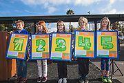 On 2/4/2014, a ribbon cutting ceremony was held at Farragut Elementary School in Culver City for the switching on of the school district's new 750kw solar array built at the school. California, USA