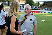Football Ferns Coach, Tom Sermanni talks to the media at the Cup of Nations Women's Football match, New Zealand Football Ferns v Matildas, Leichhardt Oval, Thursday 28th Feb 2019. Copyright Photo: David Neilson / www.photosport.nz