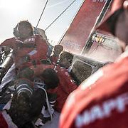 Leg Zero, Rolex Fastnet Race: start on board MAPFRE, . Photo by Ugo Fonolla/Volvo Ocean Race. 06August, 2017