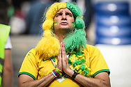 Fan of Brazil during the 2018 FIFA World Cup Russia, round of 16 football match between Brazil and Mexico on July 2, 2018 at Samara Arena in Samara, Russia - Photo Thiago Bernardes / FramePhoto / ProSportsImages / DPPI