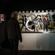Chelsea Old Town Hall.London,England,UK. 26th April 2017. Sex Pistols / Post Punk by Artist Guy Portelli exhibition  at Chelsea Art Fair - press & photocall of King's Road Revolution Where Art meets Music at Chelsea Old Town Hall. by See Li