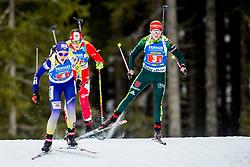 Franziska Hildebrand (GER), Anastasiya Merkushyna (UKR) during Single Mixed Relay at day 1 of IBU Biathlon World Cup 2018/19 Pokljuka, on December 2, 2018 in Rudno polje, Pokljuka, Pokljuka, Slovenia. Photo by Ziga Zupan / Sportida