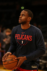 February 27, 2019 - Los Angeles, CA, U.S. - LOS ANGELES, CA - FEBRUARY 27: New Orleans Pelicans Forward Darius Miller (21) before the New Orleans Pelicans versus Los Angeles Lakers game on February 27, 2019, at Staples Center in Los Angeles, CA. (Photo by Icon Sportswire) (Credit Image: © Icon Sportswire/Icon SMI via ZUMA Press)