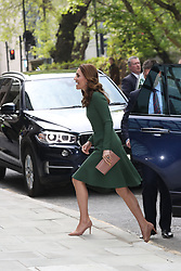 May 1, 2019 - London, London, United Kingdom - Image licensed to i-Images Picture Agency. 01/05/2019. London, United Kingdom. The Duchess of Cambridge arriving to open the new  Anna Freud Centre of Excellence in London. (Credit Image: © Stephen Lock/i-Images via ZUMA Press)