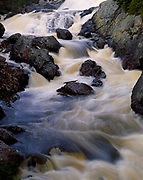 Lower waterfall on the Sand River, Lake Superior Provincial Park, Ontario, Canada.