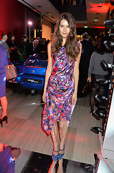 SARAH ANN MACKLIN at the launch of the new Ferrari 488 Spider held at Watches of Switzerland, 155 Regent Street, London on 25th February 2016.