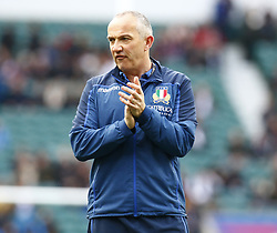 March 9, 2019 - London, England, United Kingdom - London, ENGLAND, 9th March .Conor O'Shea Head Coach of Italy.during the Guinness 6 Nations Rugby match between England and Italy at Twickenham  stadium in Twickenham  England on 9th March 2019. (Credit Image: © Action Foto Sport/NurPhoto via ZUMA Press)