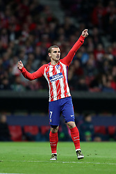 May 3, 2018 - Madrid, Spain - ANTOINE GRIEZMANN of Atletico de Madrid during the UEFA Europa League, semi final, 2nd leg football match between Atletico de Madrid and Arsenal FC on May 3, 2018 at Metropolitano stadium in Madrid, Spain (Credit Image: © Manuel Blondeau via ZUMA Wire)