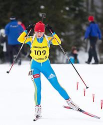12.12.2010, Biathlonzentrum, Obertilliach, AUT, Biathlon Austriacup, Verfolgung Lady, im Bild Anastasij Merkushina (UKR, #103). EXPA Pictures © 2010, PhotoCredit: EXPA/ J. Groder
