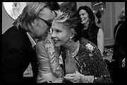 DAVID DOWSON; LESLIE CARON, Nicky Haslam hosts dinner at  Gigi's for Leslie Caron. 22 Woodstock St. London. W1C 2AR. 25 March 2015