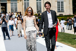 Street style, Natalia Vodianova and husband arriving at Dior Fall-Winter 2018-2019 Haute Couture show held at Musee Rodin, in Paris, France, on July 2nd, 2018. Photo by Marie-Paola Bertrand-Hillion/ABACAPRESS.COM
