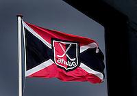 AMSTELVEEN - HOCKEY -  AMSTELVEEN - HOCKEY -  Vlag op  het clubhuis van Hockeyclub Amsterdam.  COPYRIGHT KOEN SUYKCOPYRIGHT KOEN SUYK