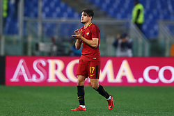 February 11, 2018 - Rome, Italy - Cengiz Under of Roma greeting the supporters during the serie A match between AS Roma and Benevento Calcio at Stadio Olimpico on February 11, 2018 in Rome, Italy. (Credit Image: © Matteo Ciambelli/NurPhoto via ZUMA Press)