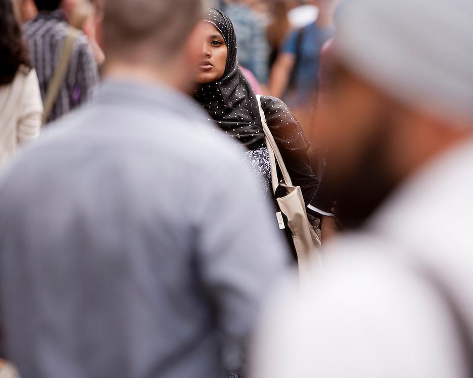 Muslim woman on the street
