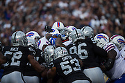 The Oakland Raiders defense stops the Buffalo Bills offense just outside the end zone at Oakland Coliseum in Oakland, Calif., on December 4, 2016. (Stan Olszewski/Special to S.F. Examiner)