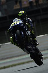 June 15, 2018 - Barcelona, Catalonia, Spain - Valentino Rossi (46) of Italy and  Movistar Yamaha MotoGP making a wheelie  during the free practice of the Gran Premi Monster Energy de Catalunya, Circuit of Catalunya, Montmelo, Spain.On 15 june of 2018. (Credit Image: © Jose Breton/NurPhoto via ZUMA Press)