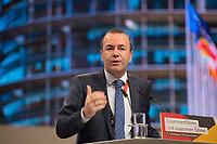 DEU, Deutschland, Germany, Hamburg, 08.12.2018: EVP-Spitzenkandidat Manfred Weber (CSU) beim Bundesparteitag der CDU in der Messe Hamburg.