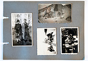 family photo album page Holland 1950s