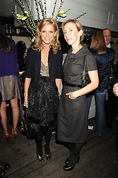 Left to right, EMILIA FOX and SAM TAYLOR-WOOD at a party to celebrate the launch of the Cowshed range of cosmetics in aid of the charity Hope & Homes for Children, held at 15-17 Old Compton Street, London on 19th November 2008.