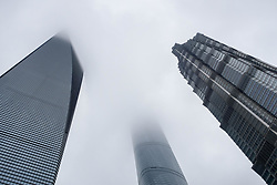 May 24, 2017 - Shanghai, Shanghai, China - Shanghai, CHINA-May 24 2017: (EDITORIAL USE ONLY. CHINA OUT) ..Skyscrapers in mist after rain in Shanghai, May 24th, 2017. (Credit Image: © SIPA Asia via ZUMA Wire)