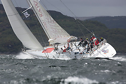 The third days racing at the  Silvers Marine Scottish Series 2015, organised by the  Clyde Cruising Club<br /> Based at Tarbert,  Loch Fyne from 22rd-24th May 2015<br /> <br /> K3797, Drum, Sir Arnold Clark, CCC, Holland 77<br /> <br /> <br /> Credit : Marc Turner / CCC<br /> For further information contact<br /> Iain Hurrel<br /> Mobile : 07766 116451<br /> Email : info@marine.blast.com<br /> <br /> For a full list of Silvers Marine Scottish Series sponsors visit http://www.clyde.org/scottish-series/sponsors/
