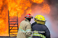 63818-02609 Firefighters at oilfield tank training, Marion Co., IL