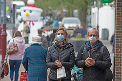 © Licensed to London News Pictures. 02/12/2020. <br /> Tunbridge Wells, UK. People wearing masks today while shopping in Tunbridge Wells town centre. Tunbridge Wells in Kent has a low Coronavirus infection rate but is now a tier three area after coming out of lockdown with the rest of the county. Photo credit:Grant Falvey/LNP