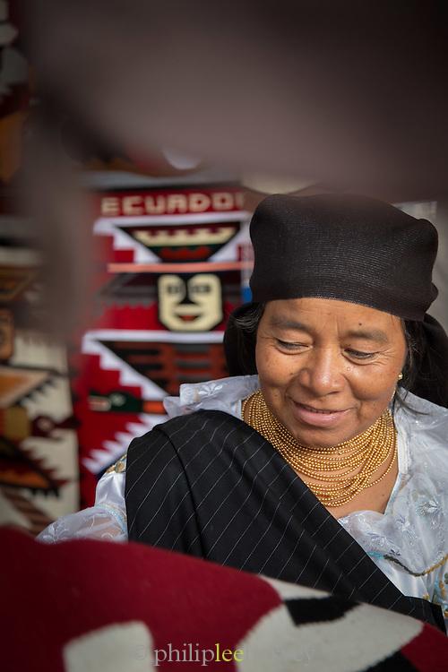 Seller, Otavalo Market , Ecuador, South America