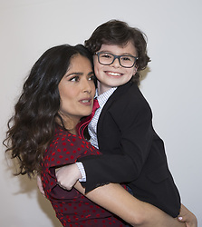April 1, 2017 - Hollywood, California, U.S. - Raphael Alejandro and Salma Hayek promotes 'How to be a Latin Lover' Raphael Alejandro was born on August 22, 2007 in Montreal, Quebec, Canada. He started his acting career at the age of 4. He is known for Once Upon a Time, Kindergarten Cop 2, Olympus, Badge of Honor, among others. (Credit Image: © Armando Gallo via ZUMA Studio)