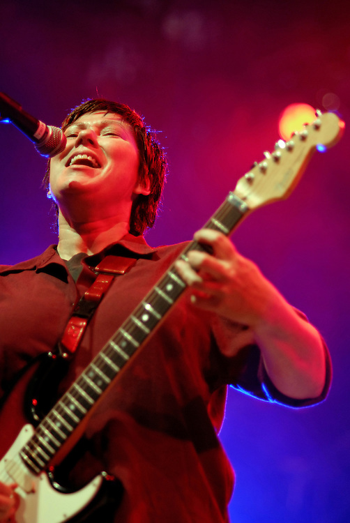 The Breeders [Kim Deal pictured] play at All Tomorrows Parties (which they also curated)  Minehead, England May 16 2009.