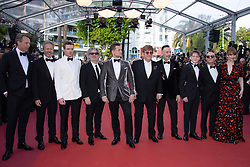 Elton John, Gilles Martin, Bernie Taupin, Bryce Dallas Howard, David Furnish, Kit Connor, Richard Madden, Taron Egerton and director Dexter Fletcher attending the Rocketman Premiere as part of the 72nd Cannes International Film Festival in Cannes, France on May 16, 2019. Photo by Aurore Marechal/ABACAPRESS.COM
