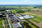 Nederland, Gelderland, Wageningen, 30-09-2015; Campus Wageningen University & Research centre, inclusief proefboerderijen en -kassen<br /> Campus Wageningen University & Research centre.<br /> luchtfoto (toeslag op standard tarieven);<br /> aerial photo (additional fee required);<br /> copyright foto/photo Siebe Swart