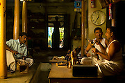 Master craftsmen Radhakhrishna Stpathy (r) and his brorther, Srikanda mould an icon in wax in their workshop in Swamimalai, India..The current Stpathy family is the twenty third generation of bronze casters dating back to the founding of the Chola Empire. The Stapathys had been sculptors of stone idols at the time of Rajaraja 1 (AD985-1014) but were called to Tanjore to learn bronze casting. Their methods using the ,?Úlost wax,?Ù process remains unchanged to this day..