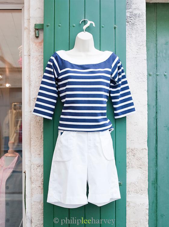 Clothes for sale in Saint-Martin-de-Ré, Ile de Ré, France
